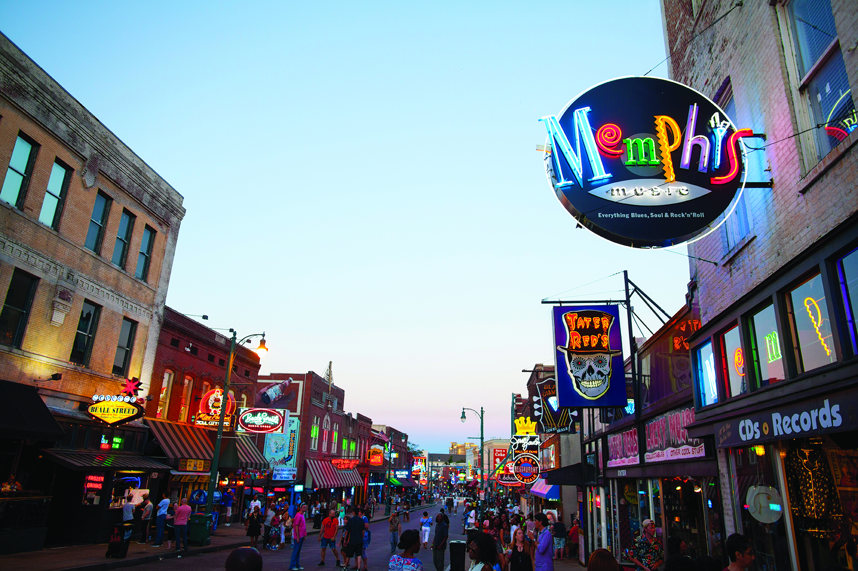 View of Beale Street, Memphis, TN